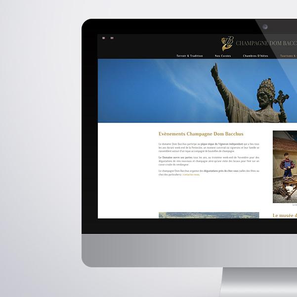 Site internet Dom Bacchus
